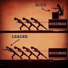 Peers pulling the boss and the business forward vs. the leader that pulls the business together with his peers, the latter being my leadership style orientation.